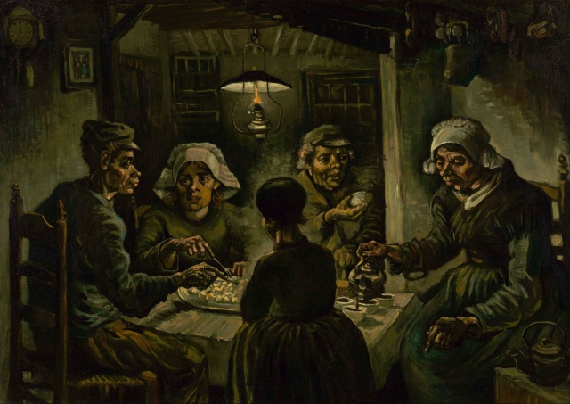 03-Vincent van Gogh,Patates Yiyenler,yağlıboya,82x114cm,1885,Van Gogh Museum,Amsterdam,Hollanda