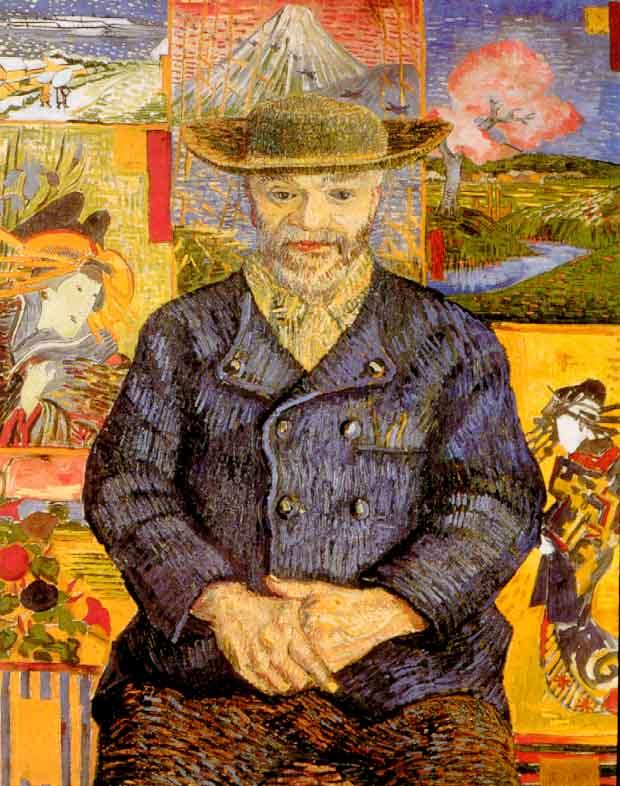 04-Vincent van Gogh,Pere Tanguy'un Portresi,yağlıboya,65x51cm,1887,Musée Rodin,Paris,Fransa