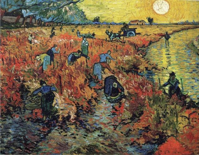 11-Arles'daki Kırmızı Bağlar 1888