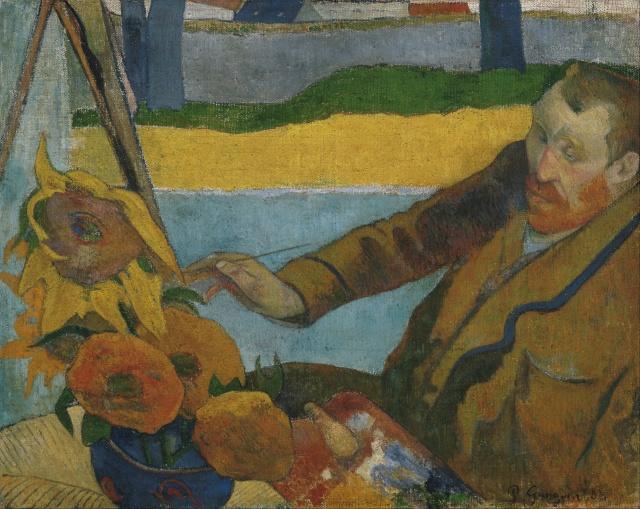 22-Paul_Gauguin, Van Gogh Günebakanları Resmediyor 1888