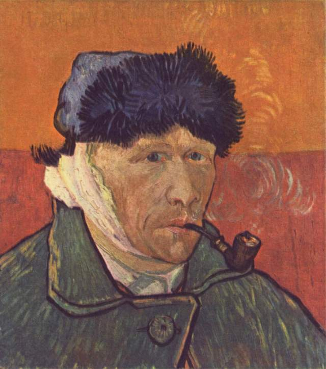 24-Self-portrait with Bandaged Ear and Pipe, 1889