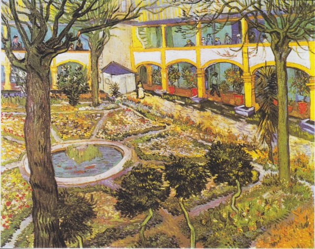 28-The Courtyard of the Hospital at Arles, 1889